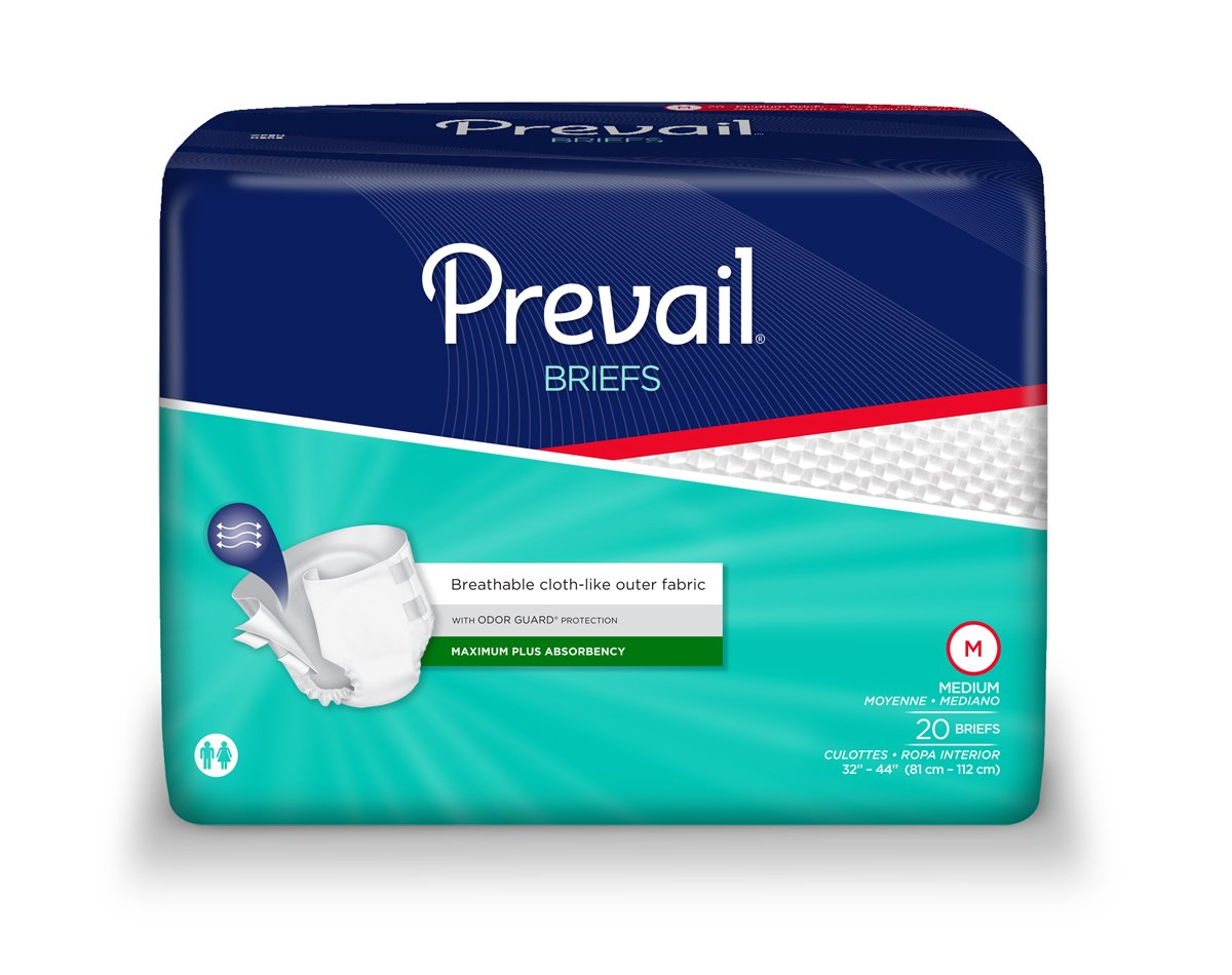 Amazon.com: Prevail Adult Briefs - Medium Case of 80: Health & Personal Care