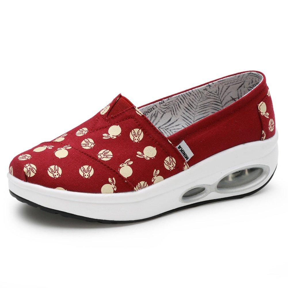 XiaoHe Damens's Shake Schuhe, Sommer Canvas Shaking Schuhe, Loafers & Slip-Ons Rutschfeste faul Schuhe, gemütliche Wild Turnschuhe