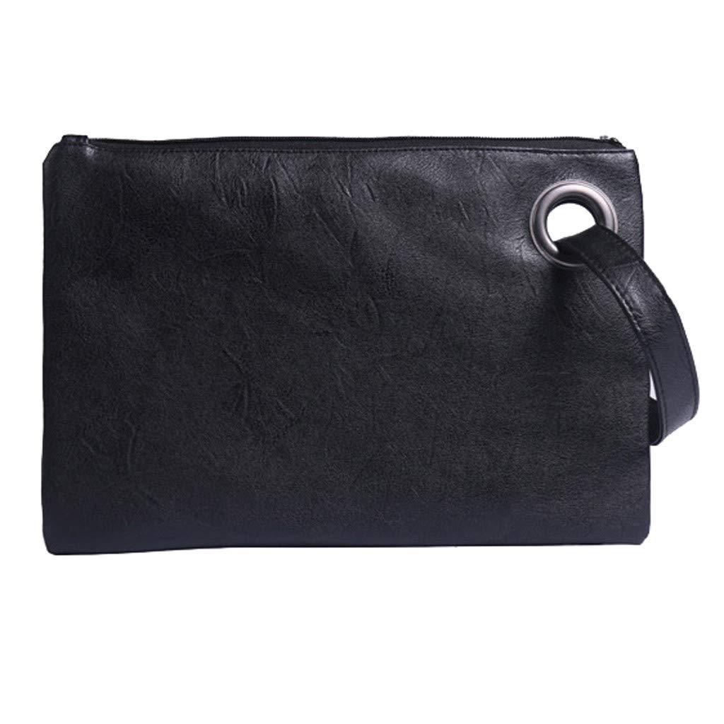 Amazon.com: Bolso de mano para mujer, de piel sintética, con ...