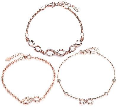 925 La En Zircon Bracelet De Yumilok Fille Femme Et Jolie Argent PnNwX08OkZ