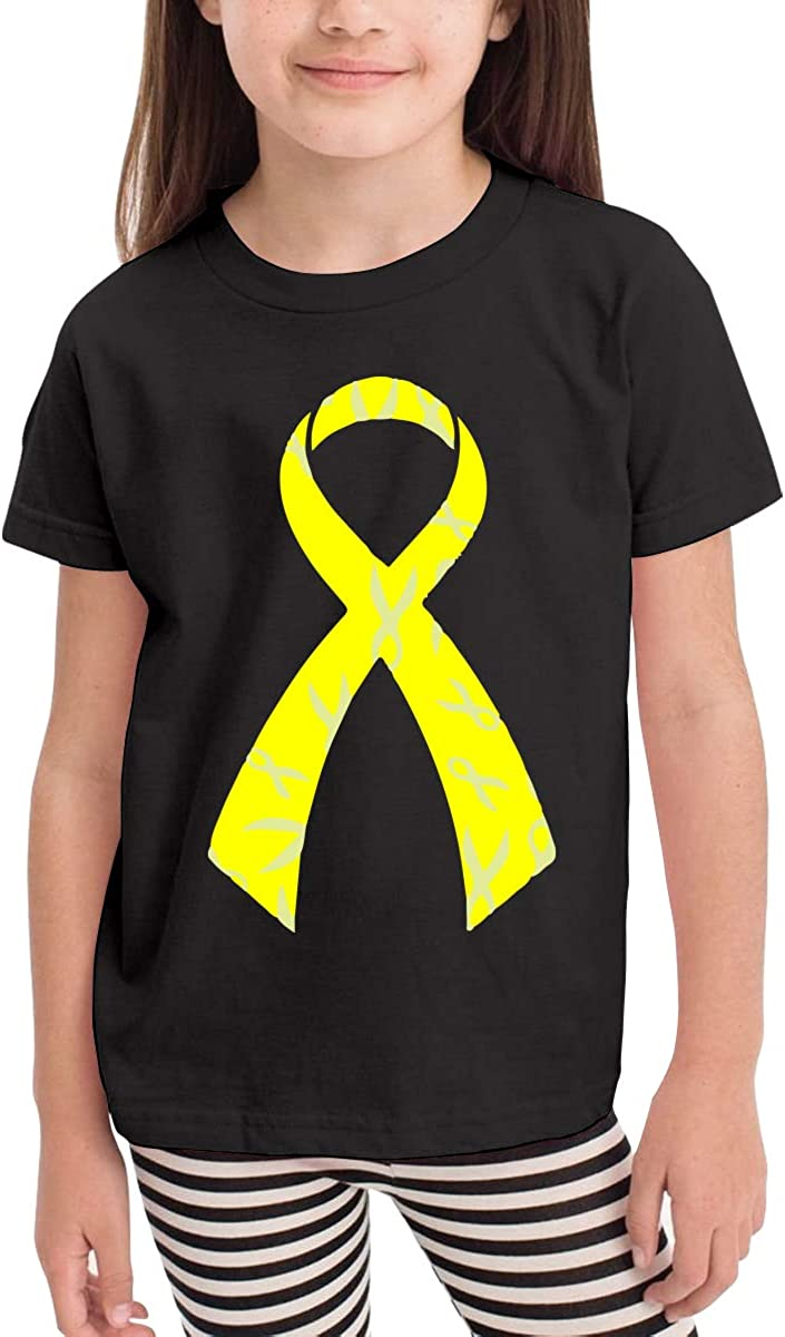 Kcloer24 Boys/&Girls Bladder Cancer Awareness Personality T-Shirt Summer Clothes for 2-6 Years Old