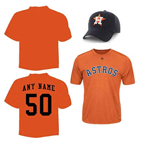 f237c54f3 Amazon.com   Astros Cap   Jersey Custom or Blank Back Wicking ...