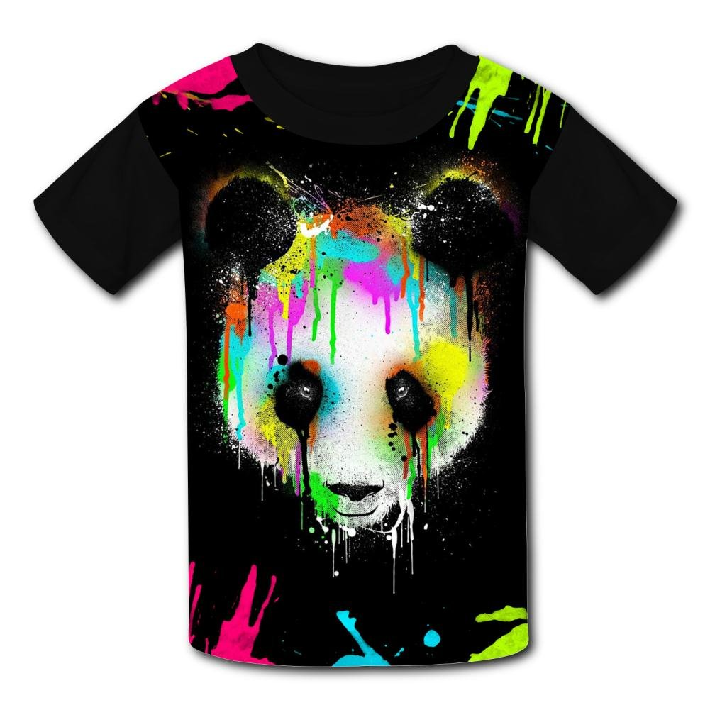 Yeeky-LA Custom Panda Colour Painting Boys Girls Tee Shirt Teenager Youth Children T-Shirts