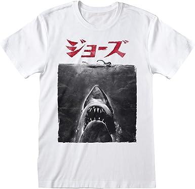 Jaws Cartel de la película Japonesa Camiseta para Hombre | mercancía Oficial: Amazon.es: Ropa y accesorios