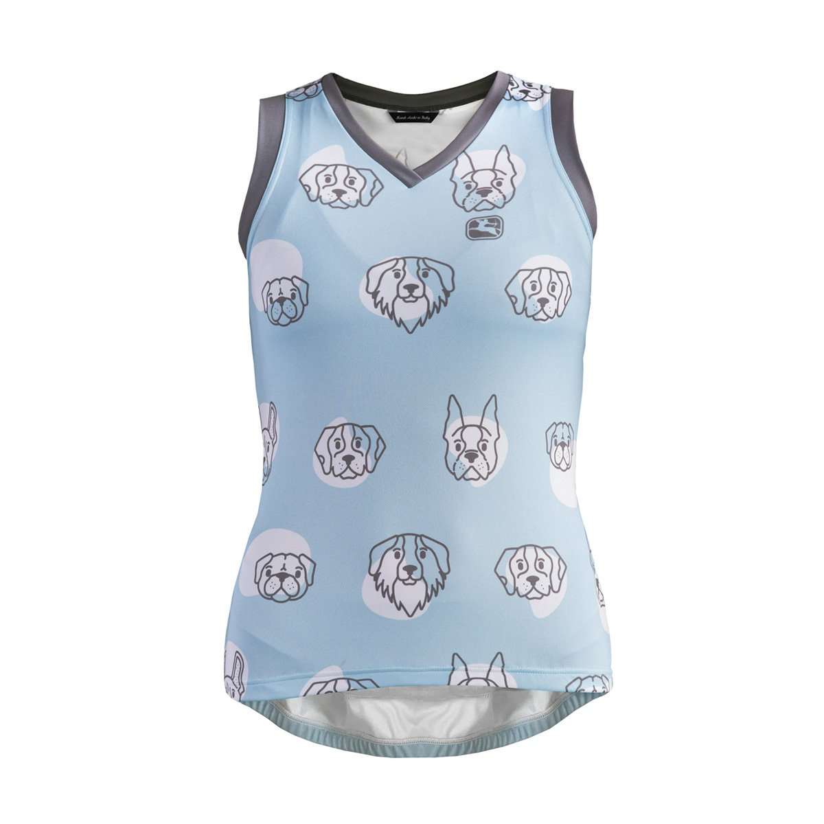 Giordana Arts Sleeveless Jersey – Women 's B0797DTMRQ Large|PUPS-LIGHT BLUE/GREY PUPS-LIGHT BLUE/GREY Large