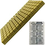 """GRODAN A OK Rockwool Stonewool Hydroponic Grow Media Starter Cubes Plugs 1.5"""" x 1.5"""" Sheet of 98"""