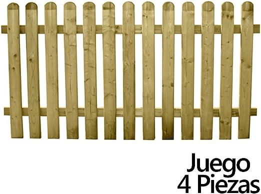 PAPILLON 8091580 Juego Vallas Jardin Madera 180x 100 cm. (4 Piezas): Amazon.es: Jardín