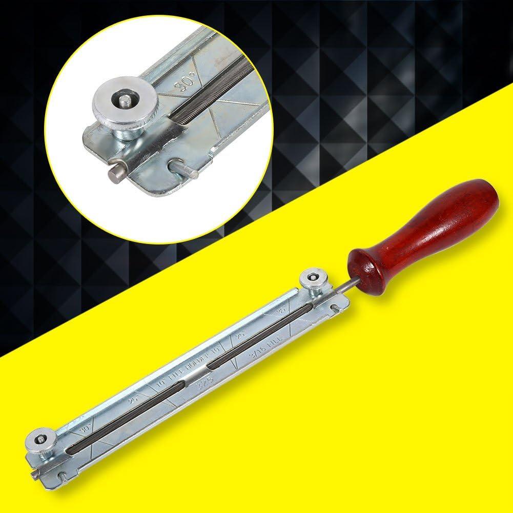Zerodis S/ägekettenfeile Sch/ärfen Kettenfeile Feilenset 4.0mm//4.8mm//5.5mm f/ür S/ägeketten mit Holzgriff 4mm