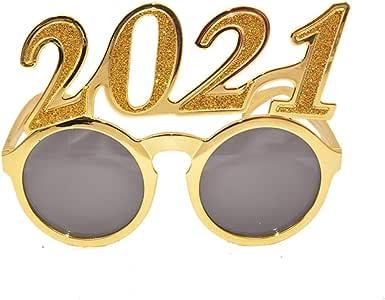 Amazon.com: PRETYZOOM 2021 New Year Glasses Sunglasses Glitter 2021 Number Glasses New Year ...