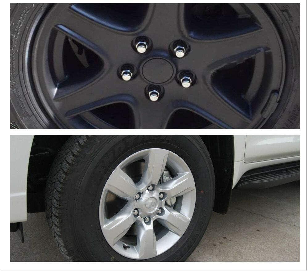 SHENGYAWAUTO 20 PCS Chrome 14x1.5 Mag Lug Nuts w//Washer fits Toyota Sequoia Tundra Land Cruiser