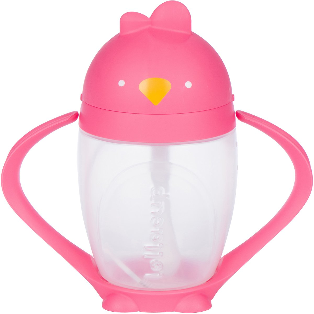 Lollaland Lollacup, Pink | 10 oz Straw Sippy Cup with Weighted Straw Made in USA