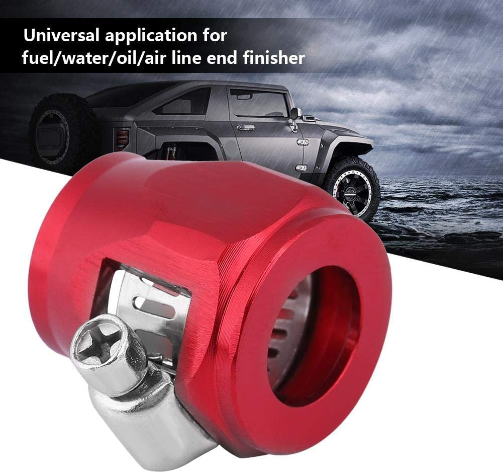 KIMISS Aluminum Universal Car Oil Fuel Line Clip Clamp Fitting Accessories Water Line Clip Hose Connectors AN10 red