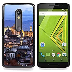 For Motorola Verizon DROID MAXX 2 / Moto X Play - old city architecture church /Modelo de la piel protectora de la cubierta del caso/ - Super Marley Shop -