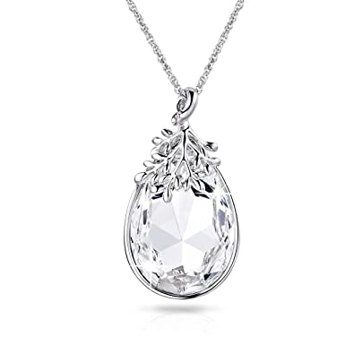 Alantyertimeless olive leaf pendant necklace for women with alantyerquottimeless olive leafquot pendant necklace for women with teardrop crystal aloadofball Gallery