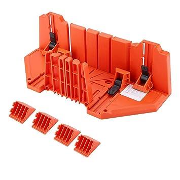 22.5/°,45/°,90/° Caja de Ingletes de Corte Antideslizante Caja de Ingletes de Sujeci/ón de 0/° 35.5 x 11 x 15cm