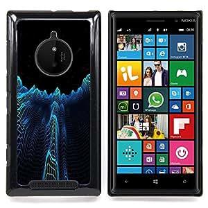 Dark City Towers Abstract Caja protectora de pl??stico duro Dise?¡Àado King Case For Nokia Lumia 830