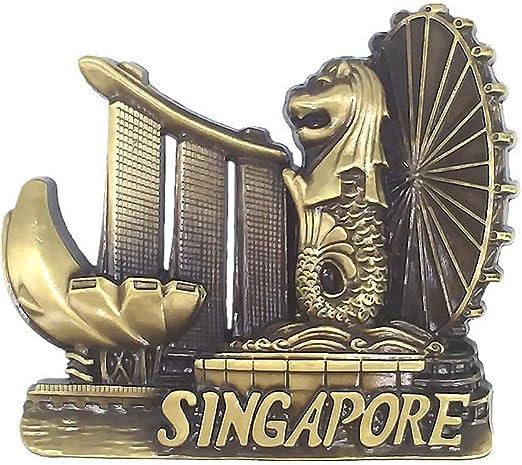 Singapore Merlion Metall Fridge Magnet Home Decor Tourist Travel Souvenir Gifts