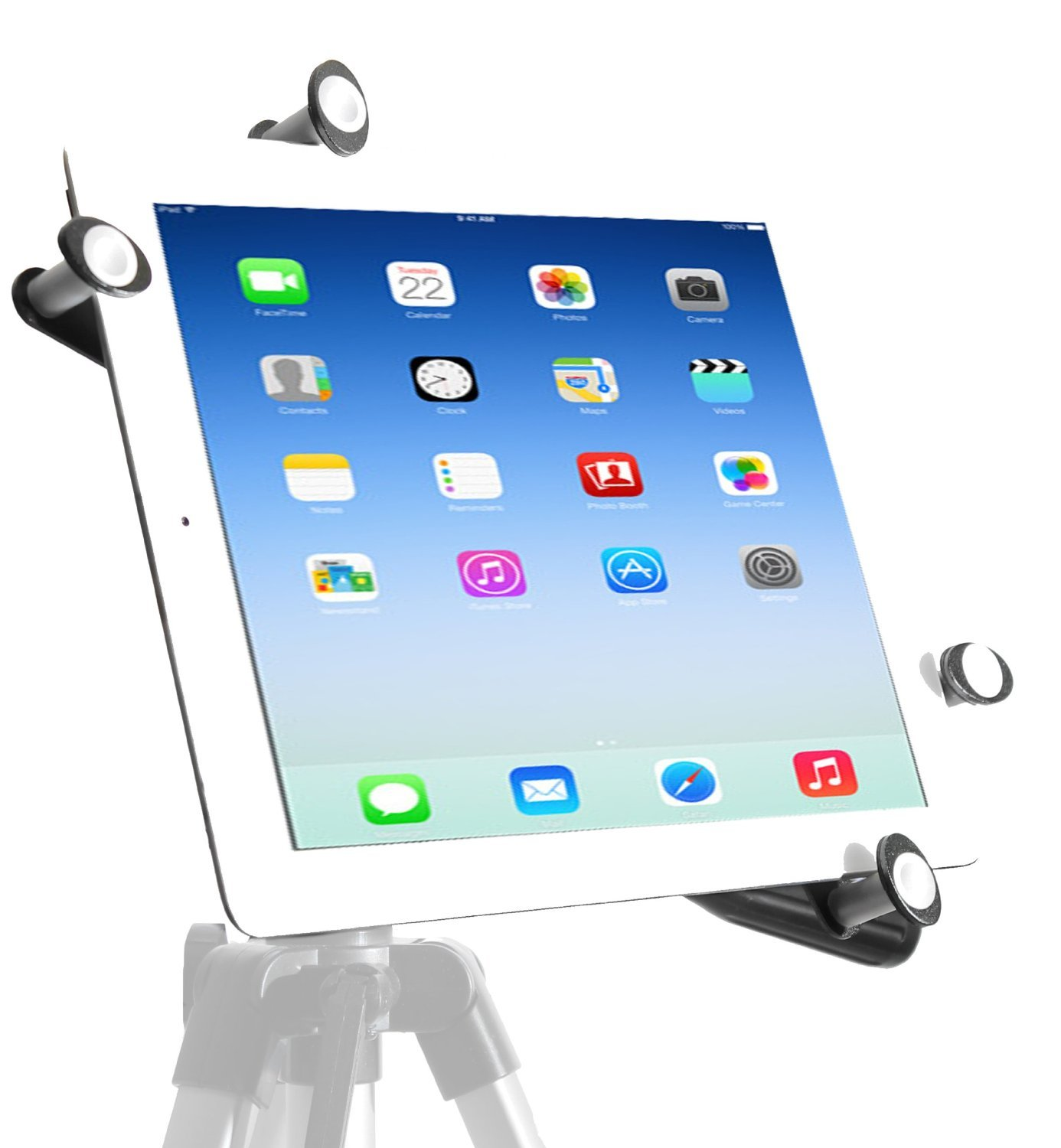iShot Pro G7 Pro Universal Tablet Tripod Mount Adapter Holder Bracket Works with Most Cases & Sleeves Even Thick Otter Box Cases - Rock Solid All Metal Frame Fits 5-11 inch Tablet Computers