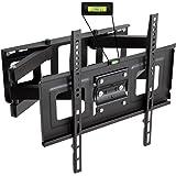 TecTake® TV Wandhalterung für Flachbildschirme neigbar schwenkbar max VESA 400x400 bis 100kg Plasma LCD LED 81cm (32 Zoll) - 140cm (55 Zoll) Wandabstand 7cm