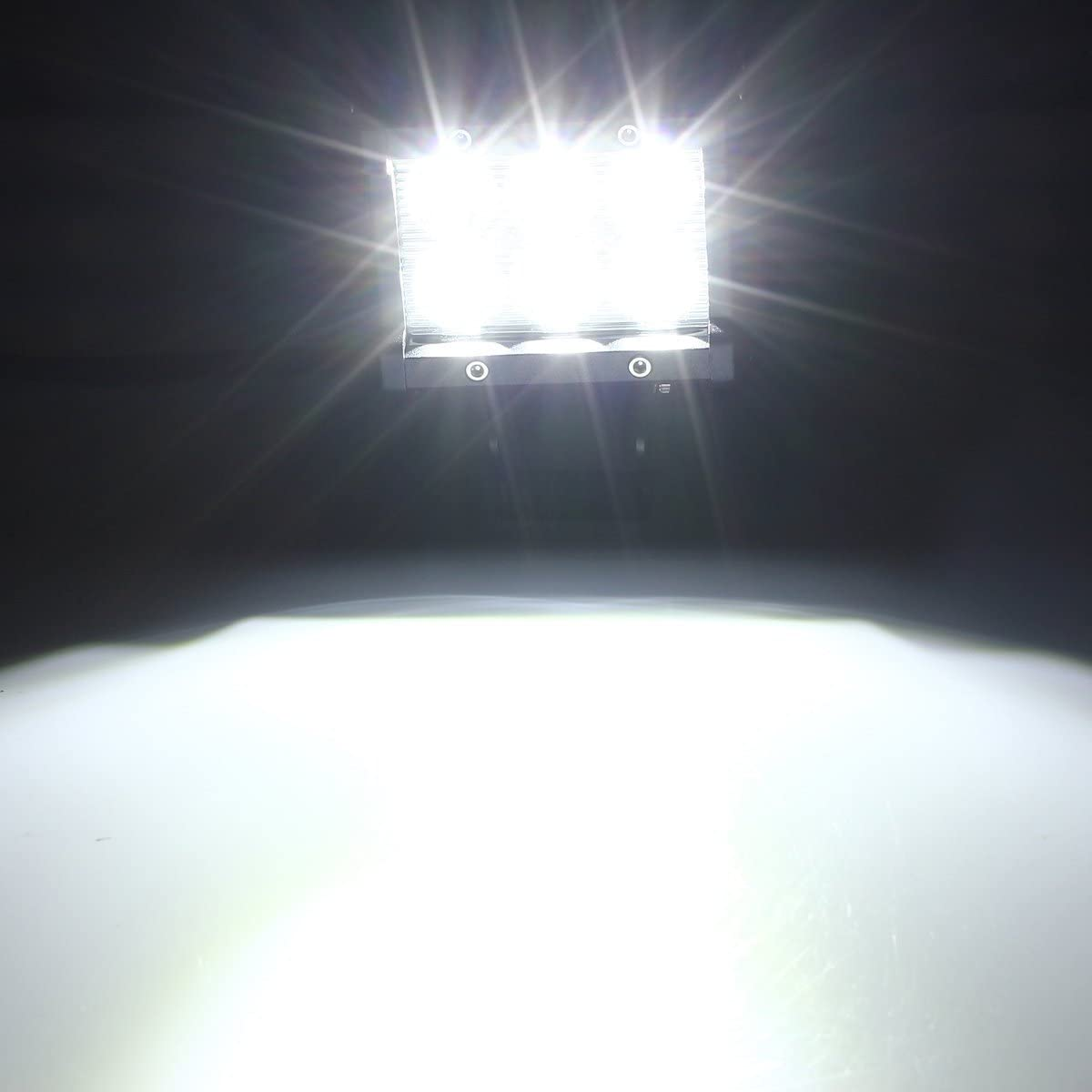 LARS360 4x 18W LED Work Light Offroad Flood Light LED Bar 12-24V Square Reflector Headlight Working Headlamps Offroad Reversing Lamp For Automotive SUV UTV ATV 6000-6500K Daylight White 1300LM