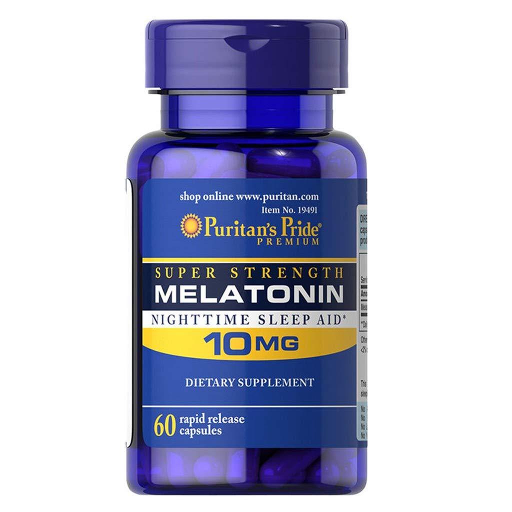 Amazon.com: Puritans Pride 2 Pack of Melatonin 10 mg Puritans Pride Melatonin 10 mg-60 Capsules: Health & Personal Care