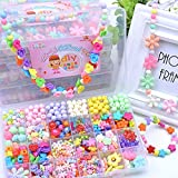 Lanlan 1PCS DIY Colorful Acrylic Beads Children Beaded Toys Handcrafts Materials 27 Lattice (Surprise Four Sets of Gifts)Kids Basic Skills Development Toys Jewelry Making Kits Supplies (F Series)