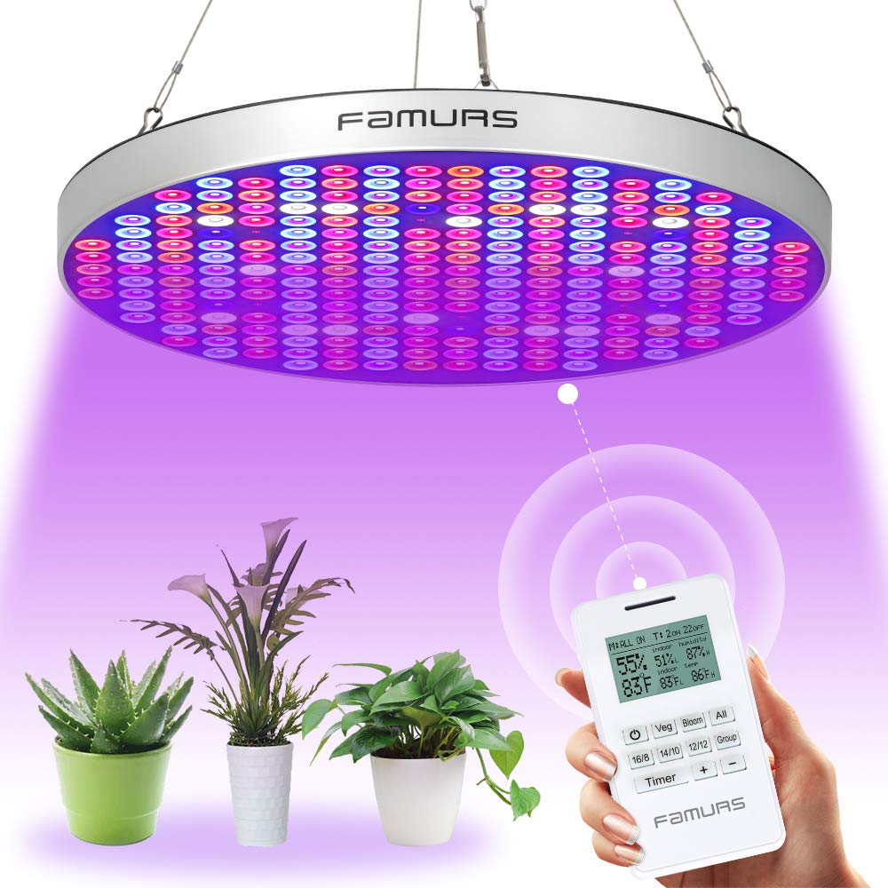 FAMURS Remote Control Series LED Grow Light 50W UV IR Growing Lamp for Indoor Plants Hydroponic Plant Grow Light