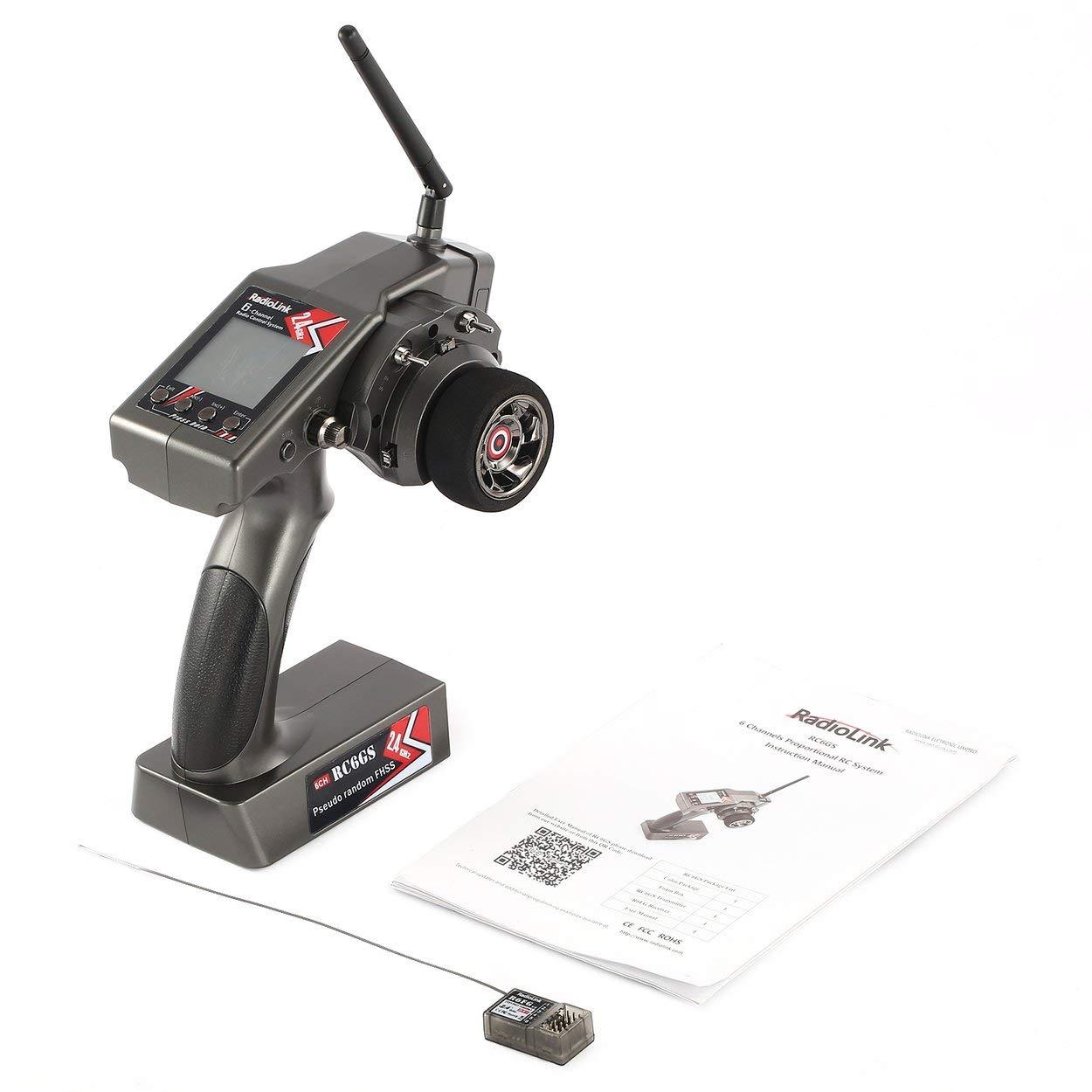 Lorenlli RadioLink RC6GS 2,4 GHz 6CH 400 Mt Fernbedienung Sender + R6FG Gyro Innerhalb Empfänger Für RC Auto Stiefel