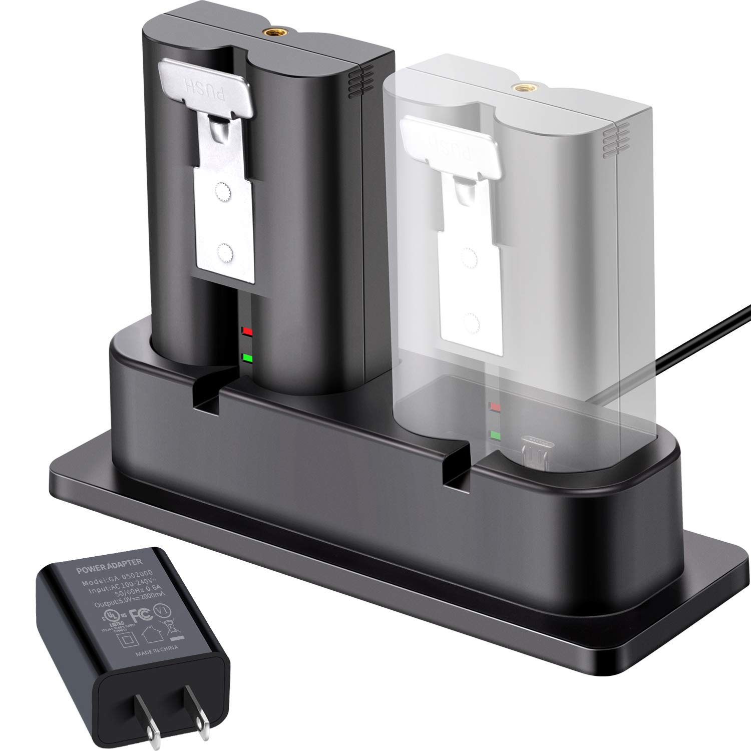 Battery Charger, Charging Station Compatible with Ring Spotlight Cam Battery, Ring Video Doorbell 2, Ring Stick Up Cam Battery(Ring Batteries NOT Included) by Sumind