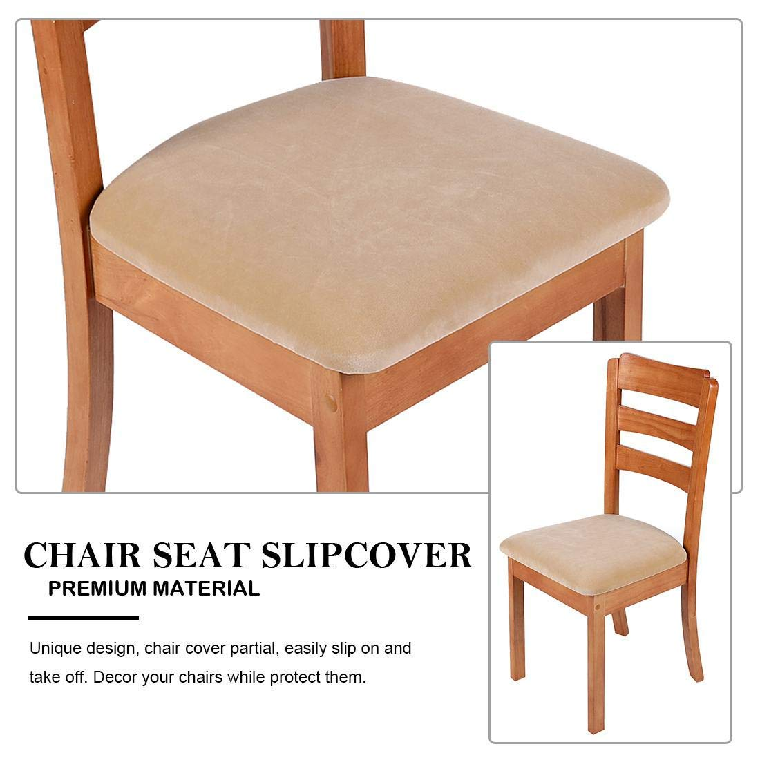 Homaxy Chair Cover Seat Velvet Soft Seat Cover Chair Stretch Seat Covers For Dining Room Chairs Washable Protective Cover Covers For Chairs 2 Set Black Velvet Home Garden Store Home Kitchen