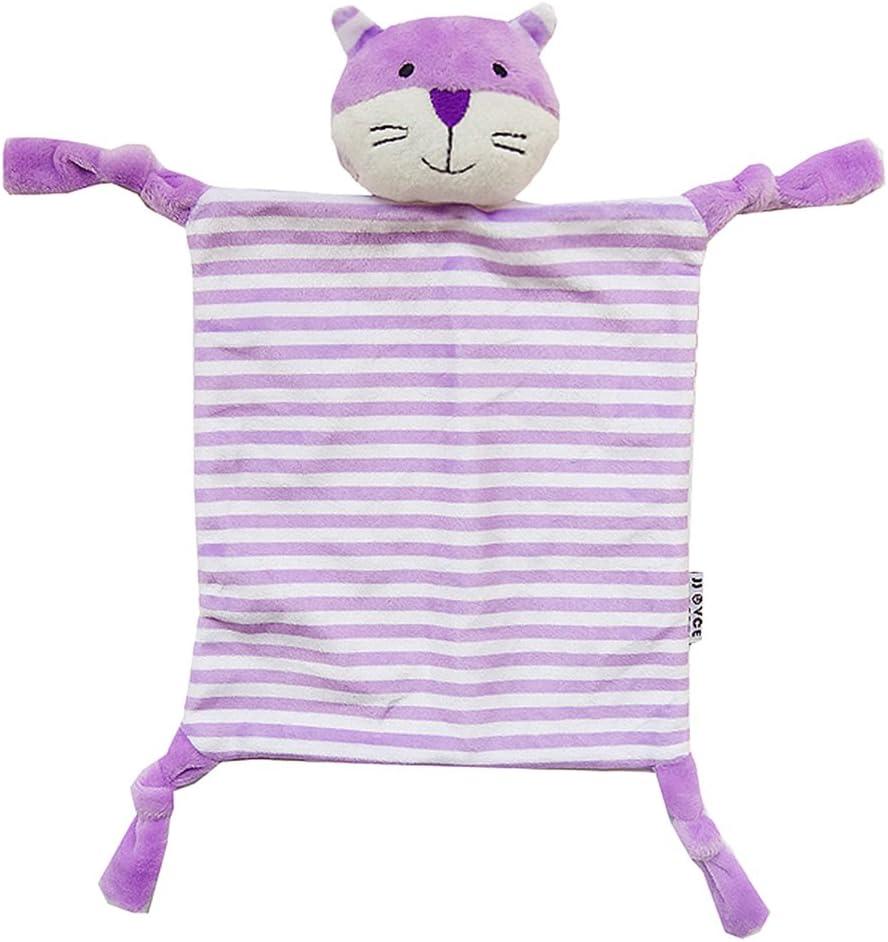para aperitivos Purple Cat Talla:27 x 17cm a rayas Yeahibaby cuadrada suave Manta de dentici/ón para beb/é de peluche