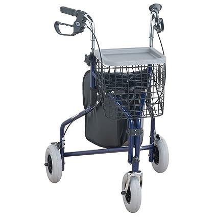 NRS Healthcare M85577 - Andador de 3 ruedas, con cesta y mochila