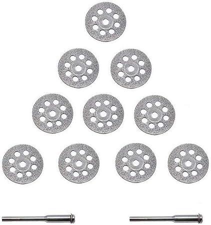 1 x Mandrin en Acier au 5 x Disque diamant Coupe de Diamant mat/ériaux 22 mm