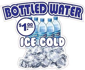 Bottles Water Concession Restaurant Food Truck Die-Cut Vinyl Sticker 10 inches