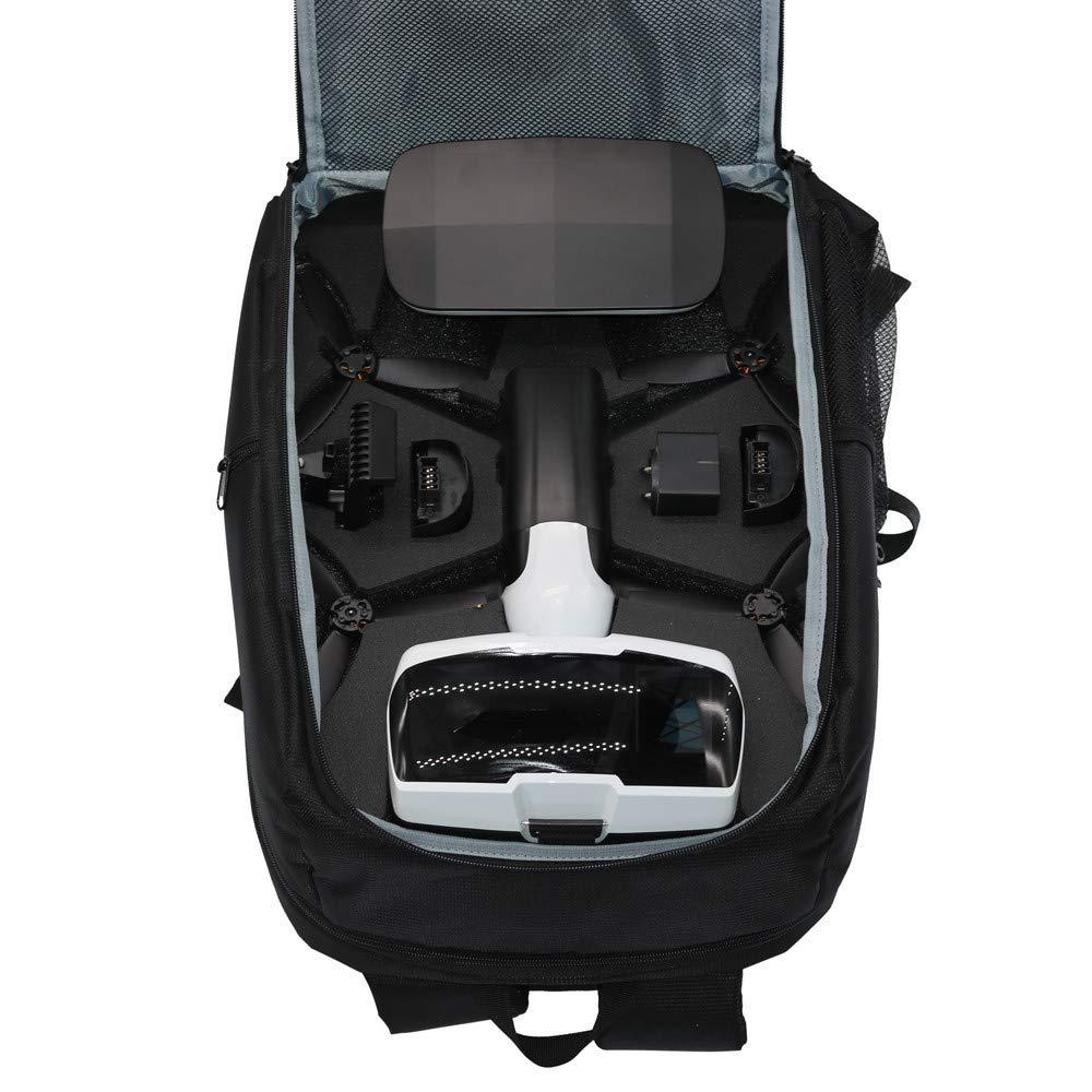 Ljnuanrg for Parrot Bebop 2 Power FPV Drone Accessories Bag Backpack Portable Shoulder Carrying Case (Black)