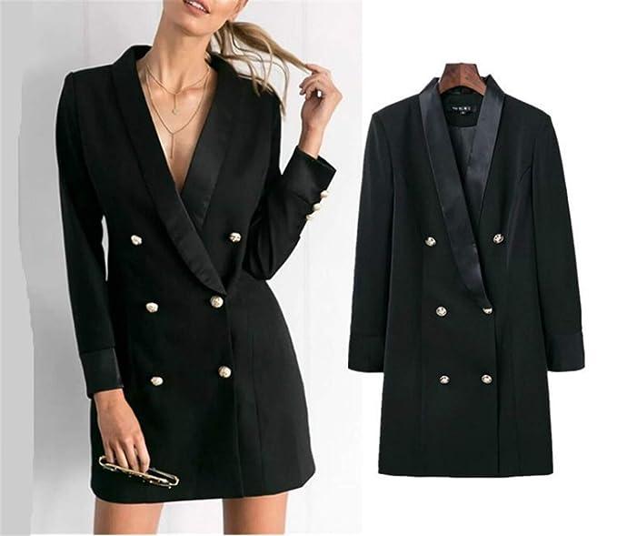 Amazon.com: Elegante chaqueta profesional para mujer con ...