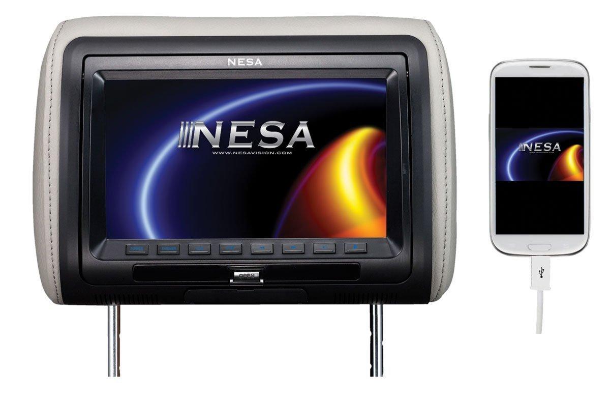NESA NPM989DHD 9-Inch Preloaded Universal Headrest Monitor [並行輸入品] B01HONQEXM