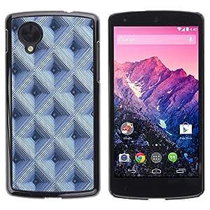 Be Good Phone Accessory // Dura Cáscara cubierta Protectora Caso Carcasa Funda de Protección para LG Google Nexus 5 D820 D821 // Checkered Pattern 3D Blue
