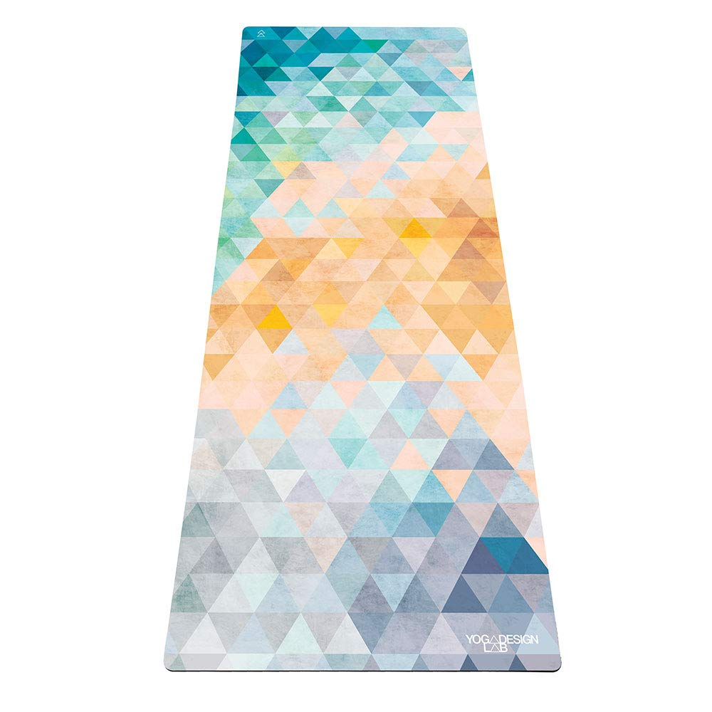 Diseño de yoga: esterilla de yoga 2 en 1 + toalla ligera, plegable, ecológica de lujo, ideal para yoga caliente, bikram, pilates, barro, sudor de 1,5 mm de ...