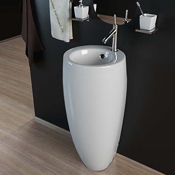 Waschbecken rund gäste wc  Design Keramik Standwaschbecken Waschtisch Waschsäule Säule ...