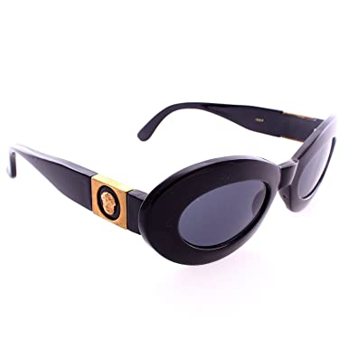 ed4ff7b8e8e62 Image Unavailable. Image not available for. Color  Retro Thick Oval Cat Eye  Sunglasses - Black Frame ...