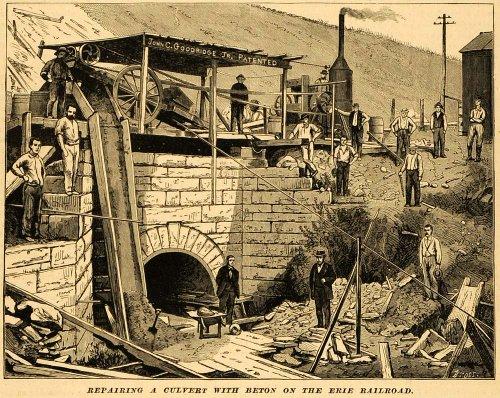 1879-print-erie-railroad-culvert-repair-beton-men-workers-ny-stone-contracting-original-halftone-pri