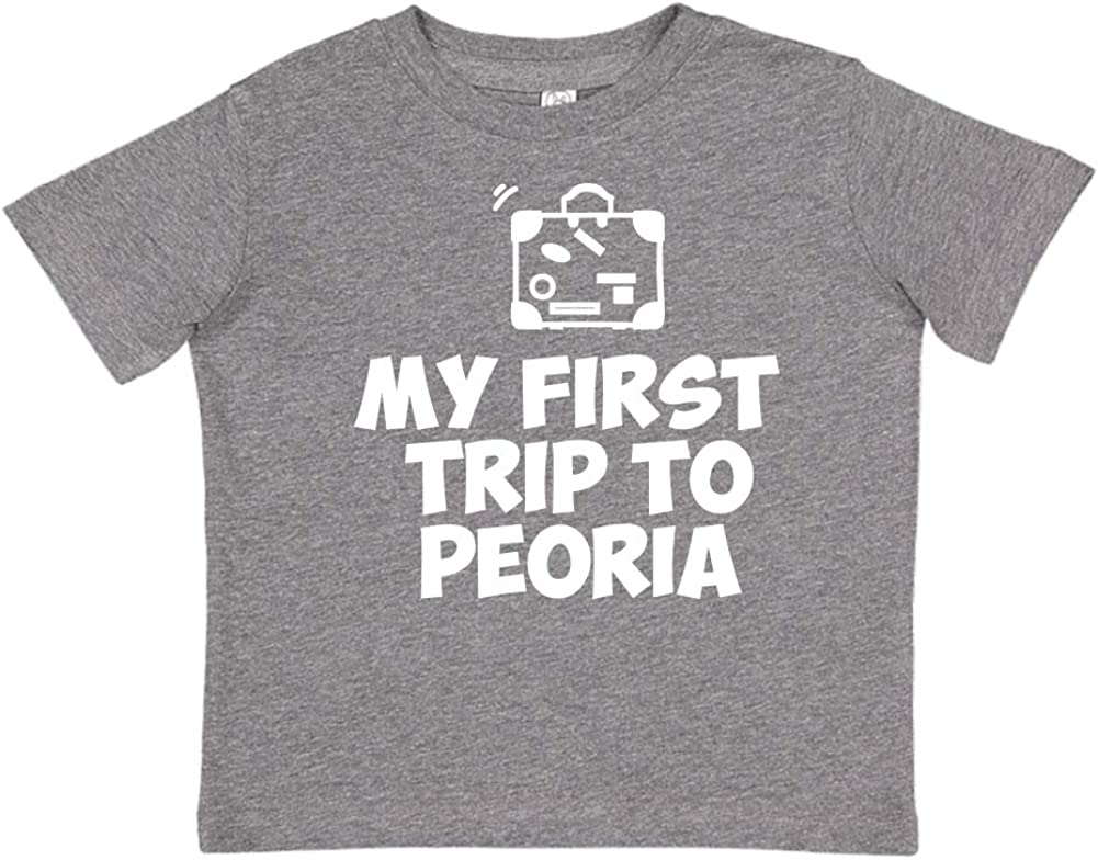Mashed Clothing My First Trip to Peoria Toddler//Kids Short Sleeve T-Shirt