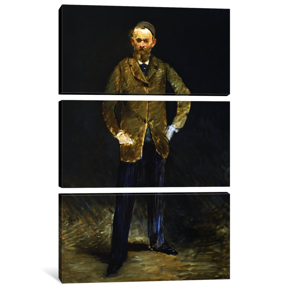 iCanvasART 3-Piece The Self Portrait Canvas Print by Edouard Manet 1.5 by 60 by 40-Inch