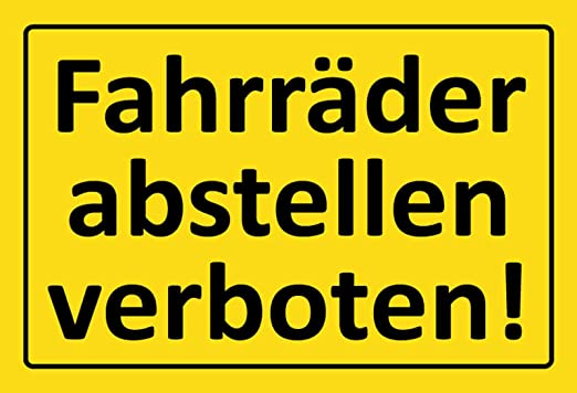 BlechschilderWelt Cartel de Chapa para Bicicletas. Señal ...