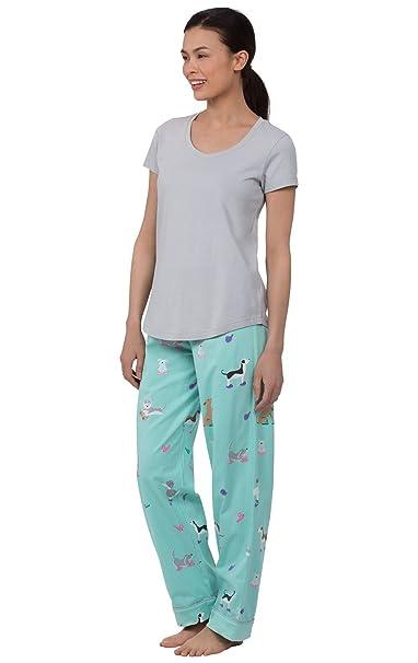 PajamaGram Pijama de dos piezas para mujer - Manga corta: Amazon.es: Ropa y accesorios