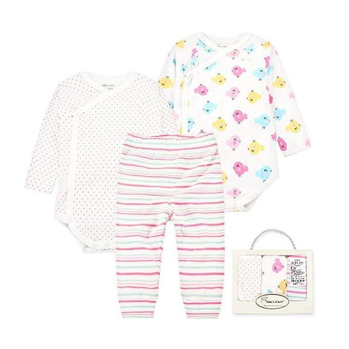 Hzjundasi Recién nacido Bebé Romper + Pantalones + Jumpsuit 3 piezas ...