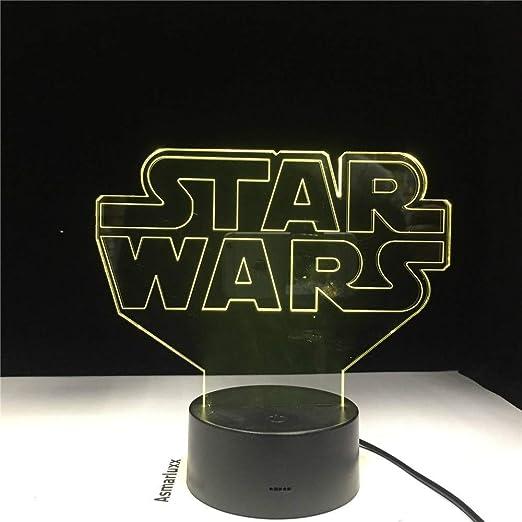KangYD Wars Star 3D Night Light, LED Colorido, Decoración ...