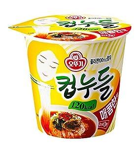 OTTUGI Korean Instant diet ramen low calories 120kcal diet snack,hot soup noodle (Spicy Noodles Flavour, 120kcal X 6pcs)