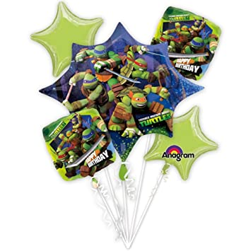 Amazon.com: Teenage Mutant Ninja Turtles Ramo de globos ...